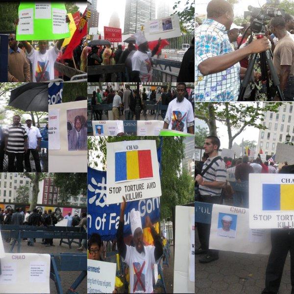 Manifestants tchadiens à New York