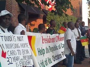 Manifestants camerounais à Washington