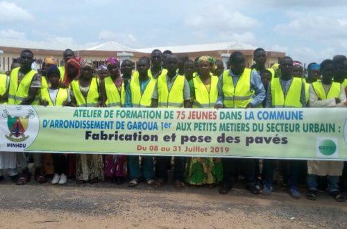 Article : Garoua 1er : 75 jeunes formés à la fabrication et à la pose des pavés
